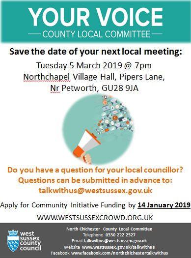 2019 03 05 North Chichester social media poster   Save The Date